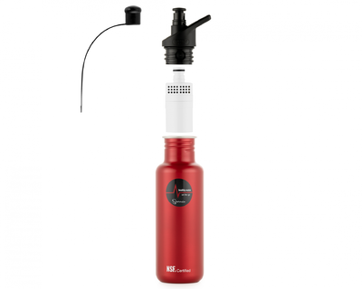 Sana stainless steel bottle expanded red