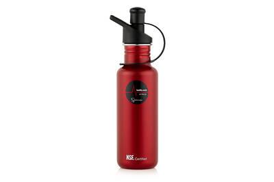 Sana stainless steel bottle red